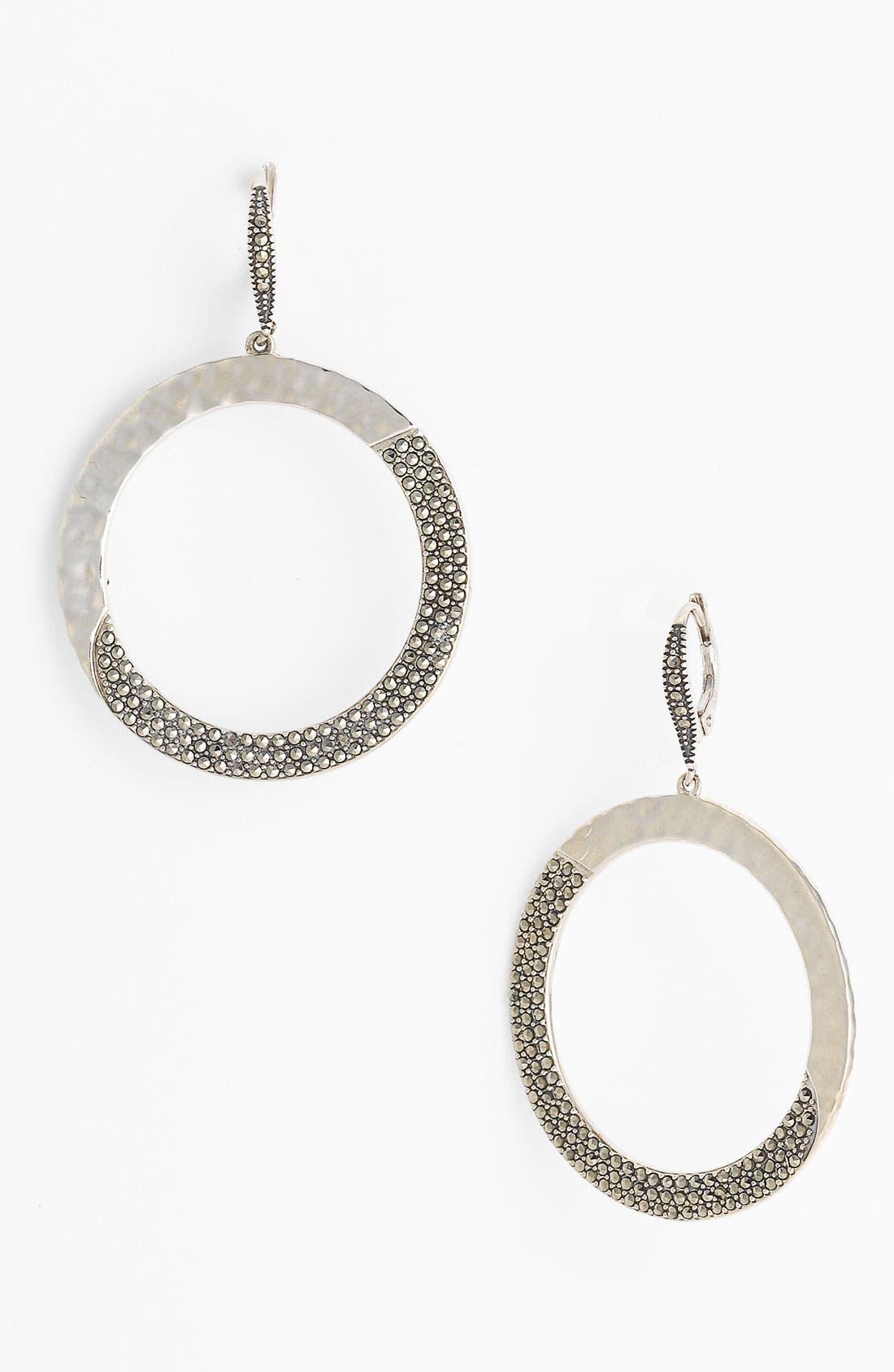 Main Image - Judith Jack 'Gold Sea' Frontal Hoop Earrings