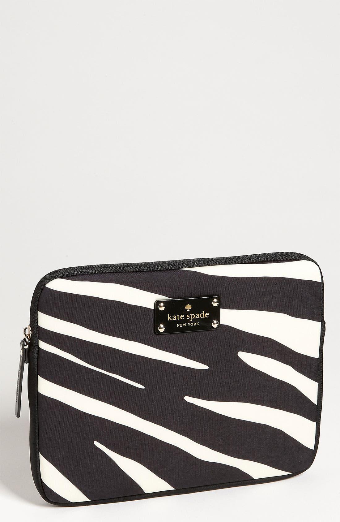 Main Image - kate spade new york 'zebra' iPad sleeve