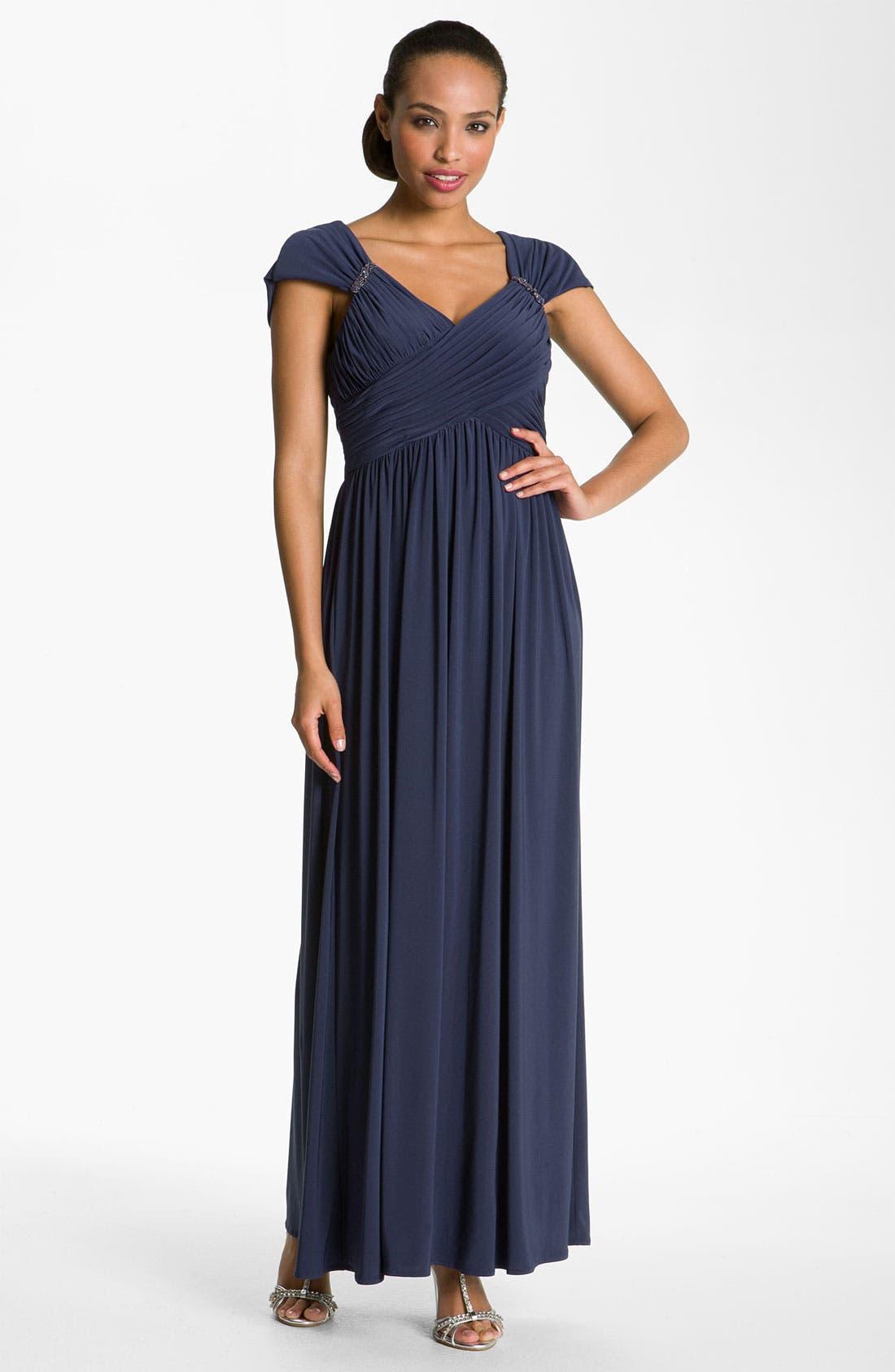 Alternate Image 1  - Patra Crisscross Bodice Jersey Gown