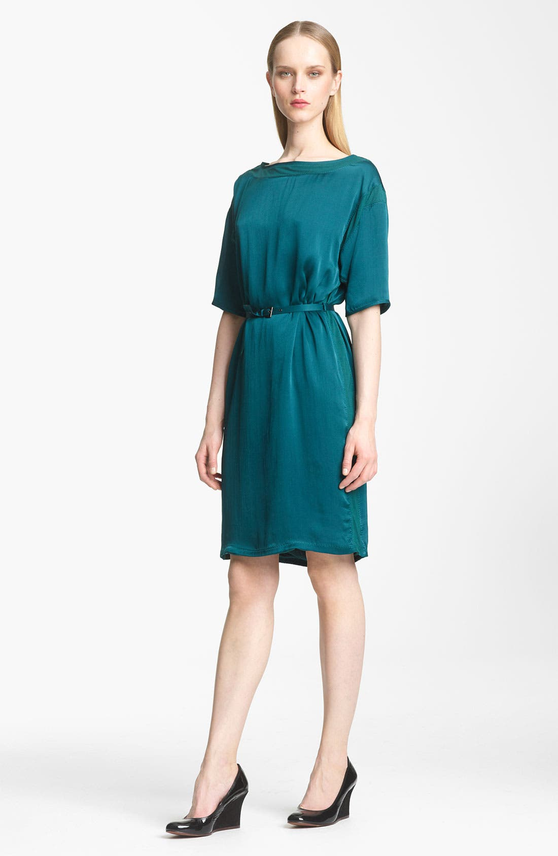 Main Image - Lanvin Belted Washed Satin Dress