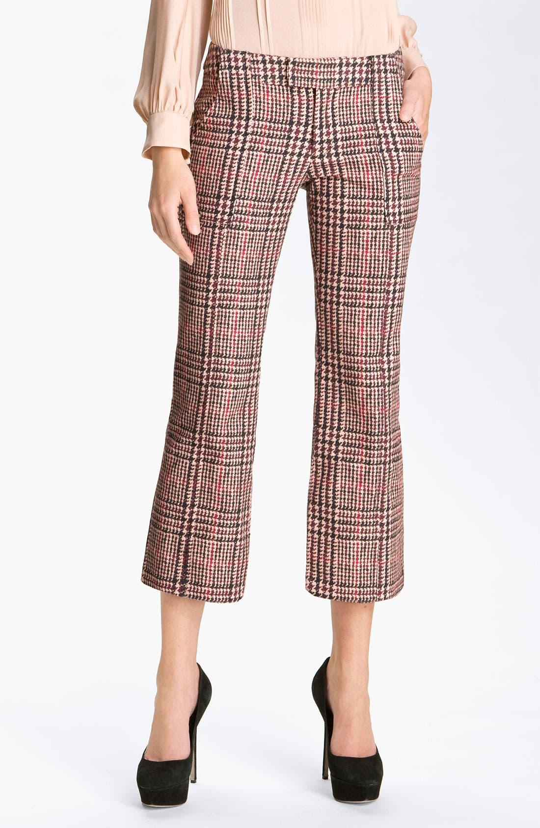 Alternate Image 1 Selected - Derek Lam 10 Crosby Houndstooth Crop Pants