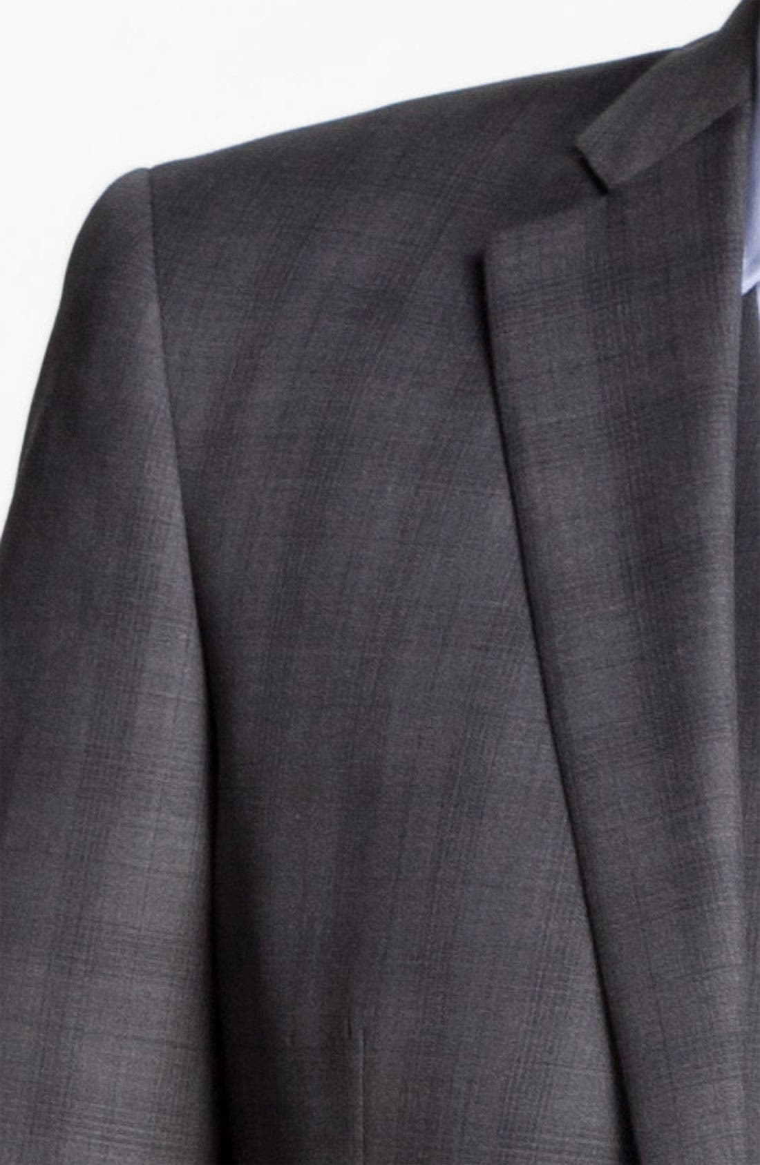 Alternate Image 6  - John Varvatos Star USA 'Chester' Plaid Three Piece Suit