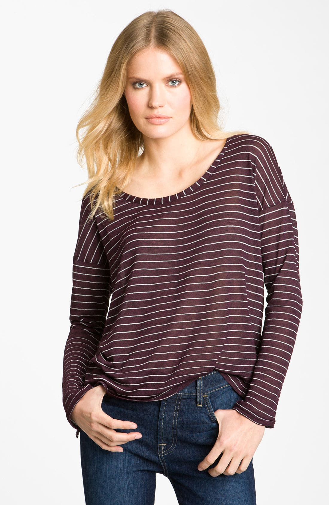 Main Image - Splendid Lurex® Stripe Top (Nordstrom Exclusive)