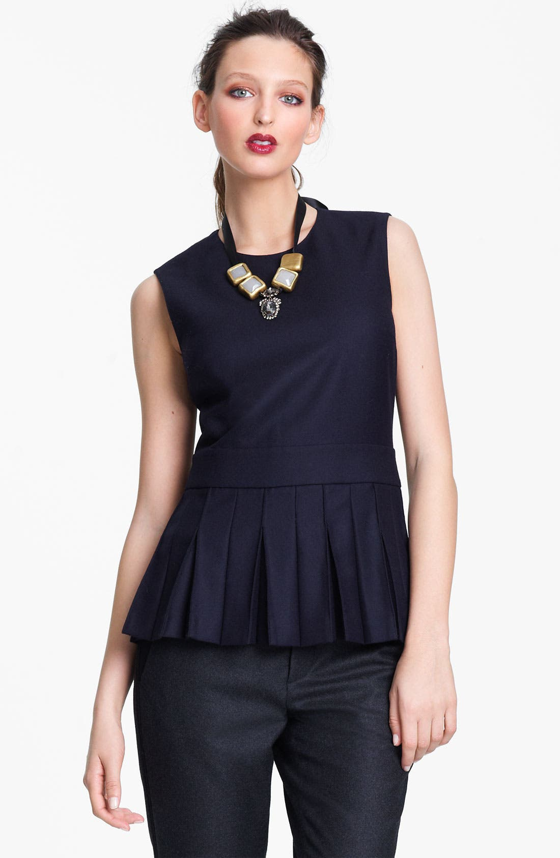 Alternate Image 1 Selected - Marni Edition Pleat Front Sleeveless Top