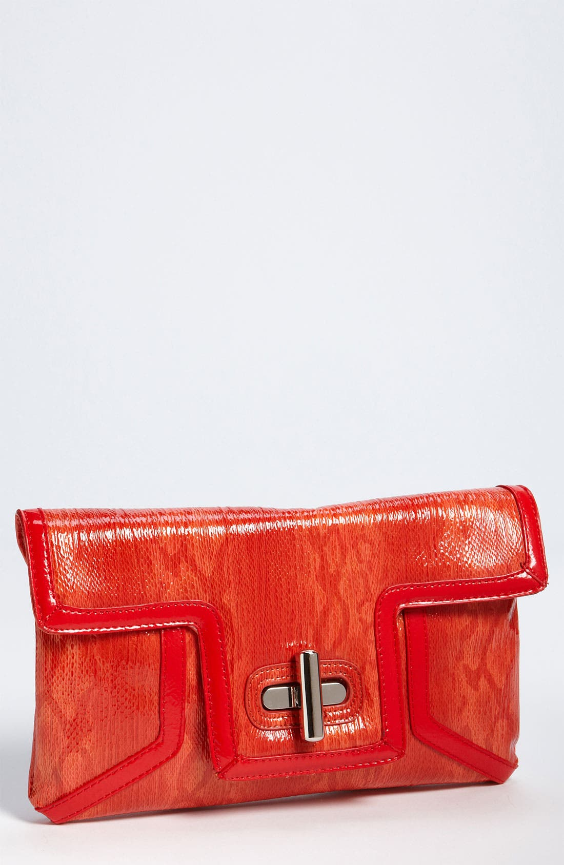 Alternate Image 1 Selected - SR Squared by Sondra Roberts Patent Snake Print Clutch