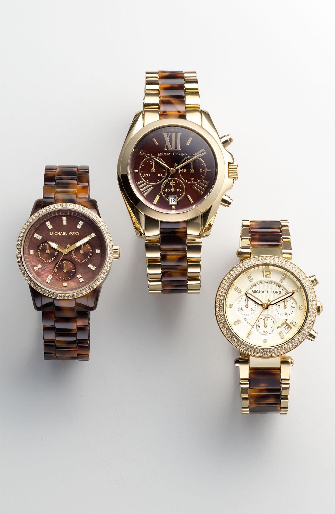 Alternate Image 2  - Michael Kors 'Ritz' Crystal Index Bracelet Watch