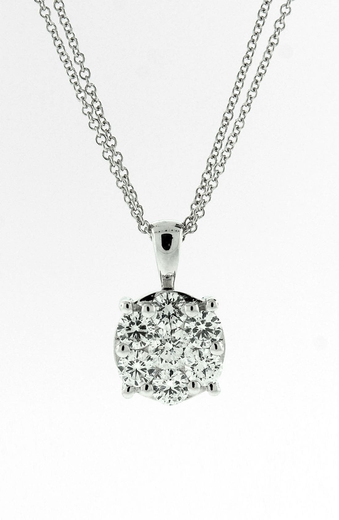 Alternate Image 1 Selected - Bony Levy 'Lucky 7' Diamond Pendant Necklace (Nordstrom Exclusive)