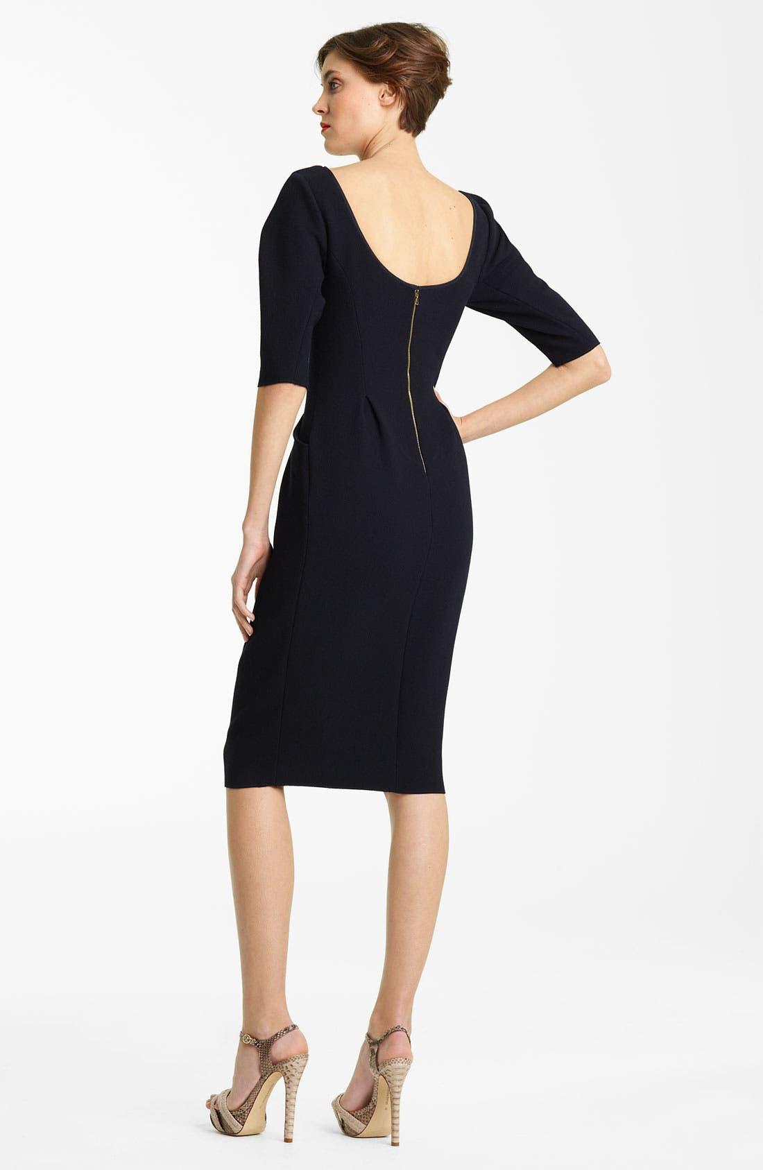 Alternate Image 2  - Nina Ricci Wool Crepe Dress