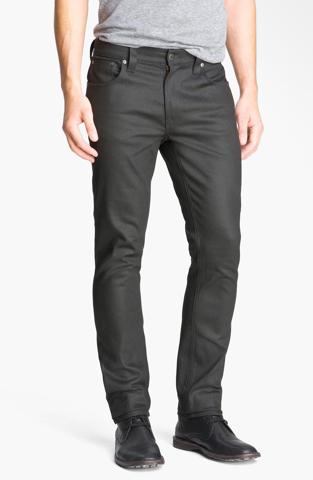Alternate Image 2  - Nudie 'Thin Finn' Skinny Jeans (Dry Black)