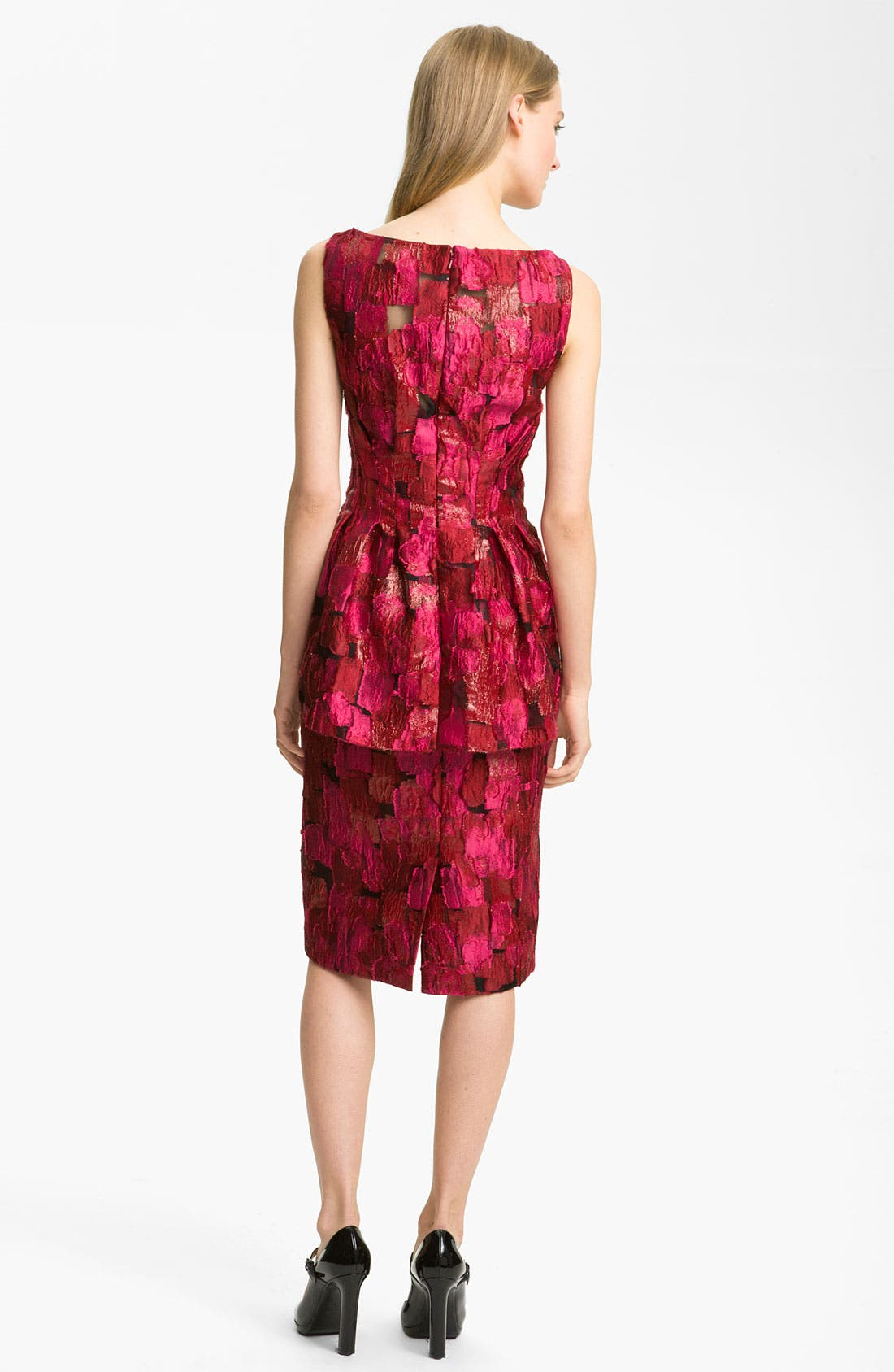 Alternate Image 2  - Lela Rose Print Peplum Dress