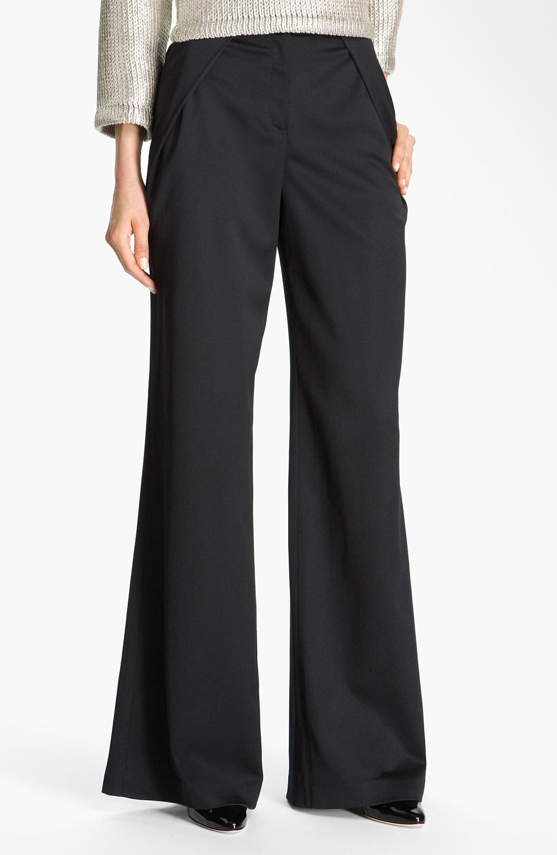 Alternate Image 2  - St. John Collection Inverted Fold Wide Leg Pants