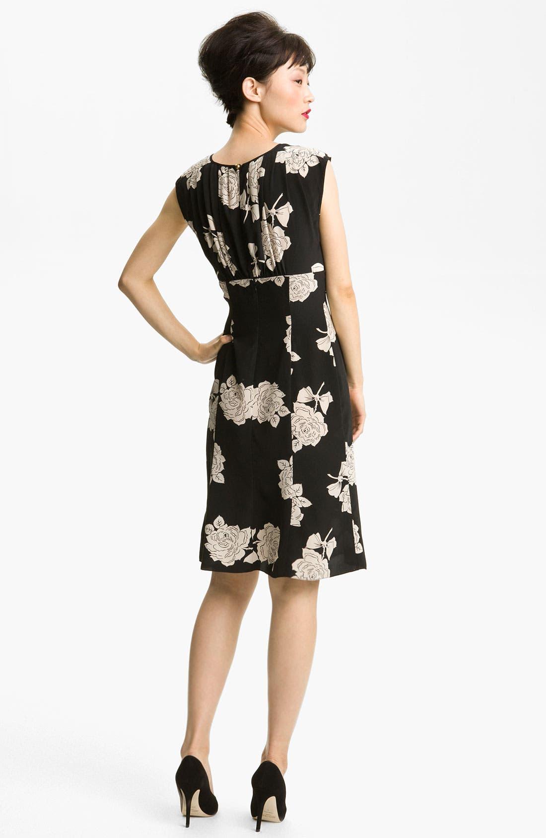 Alternate Image 2  - Tracy Reese Rose Print Silk Dress