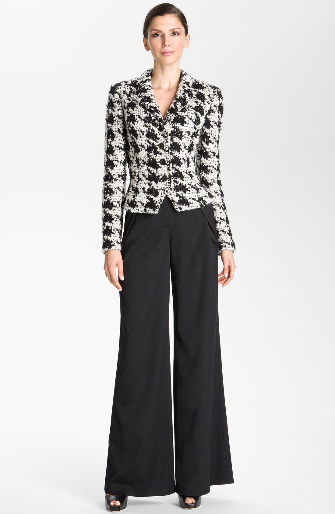 Alternate Image 5  - St. John Collection Inverted Fold Wide Leg Pants