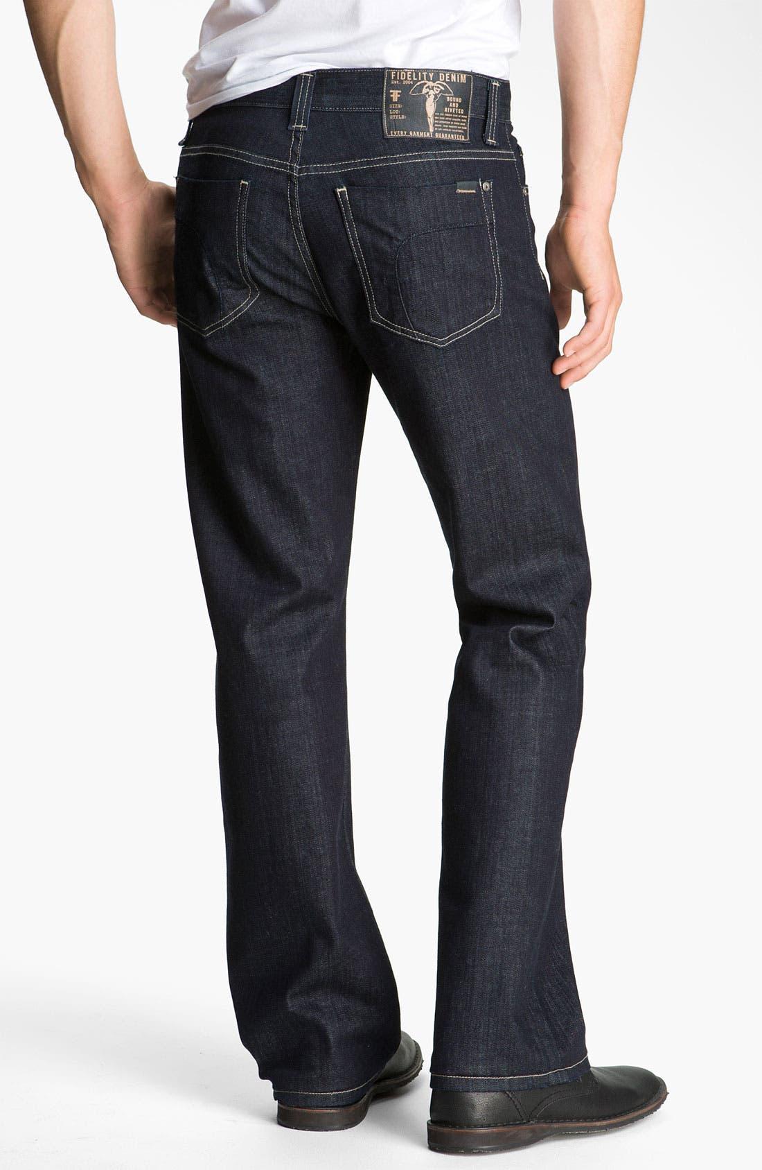 Alternate Image 2  - Fidelity Denim 'Camino' Relaxed Leg Jeans (Pacific Dark)