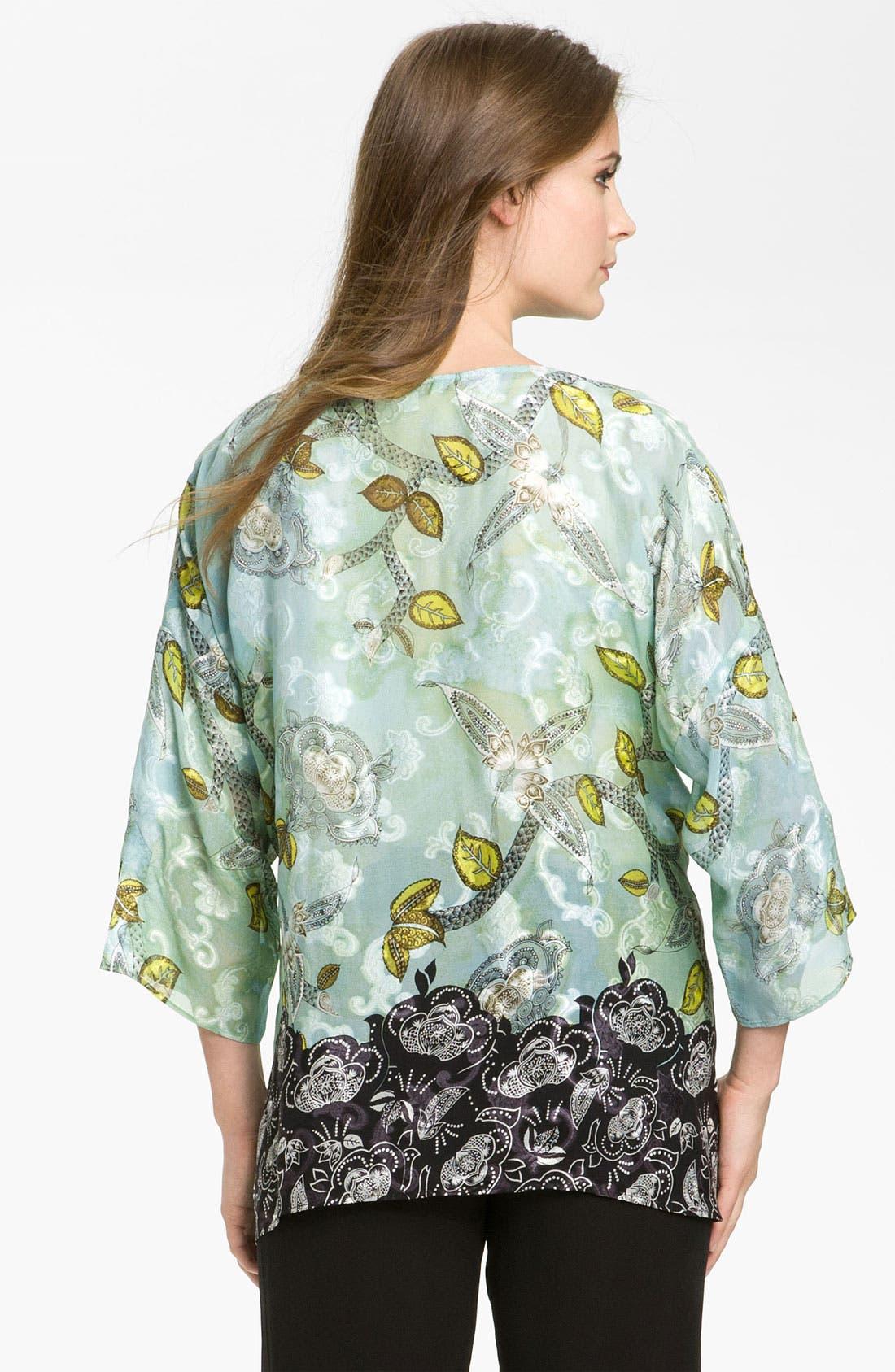 Alternate Image 2  - Citron Crewneck Silk Blend Tunic