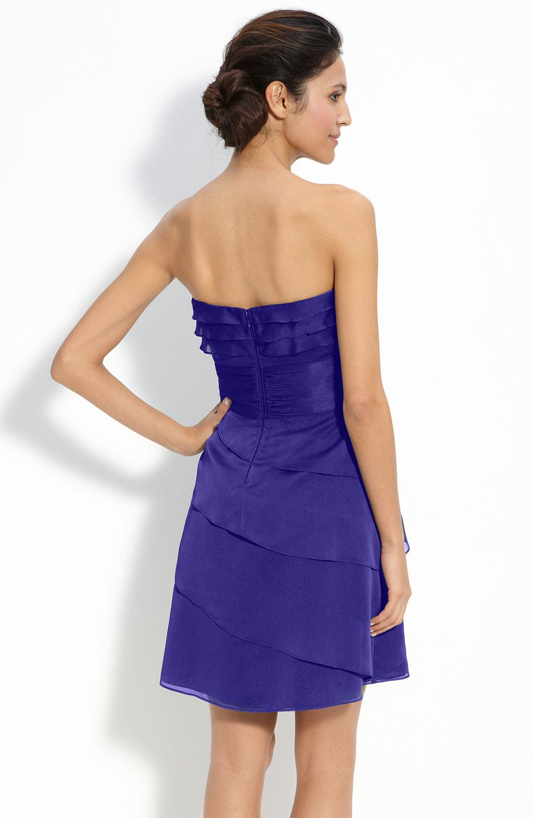 Alternate Image 2  - Adrianna Papell Tiered Iridescent Chiffon Dress (Petite)