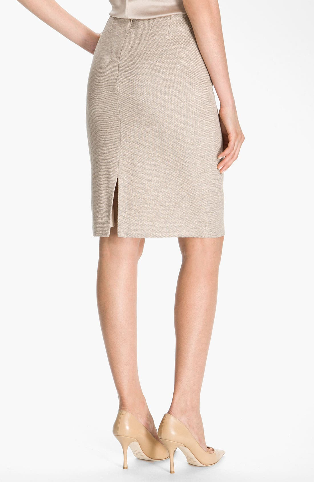 Alternate Image 3  - St. John Collection Shimmer Knit Pencil Skirt