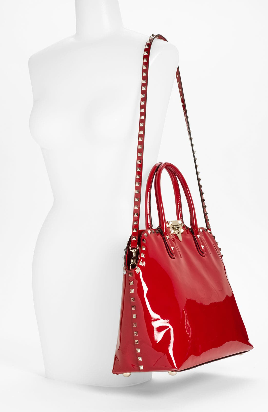 Alternate Image 2  - Valentino 'Rockstud' Patent Leather Dome Handbag