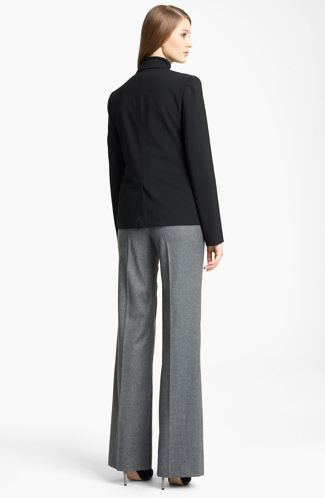 Alternate Image 3  - Reed Krakoff Wide Leg Stretch Flannel Pants