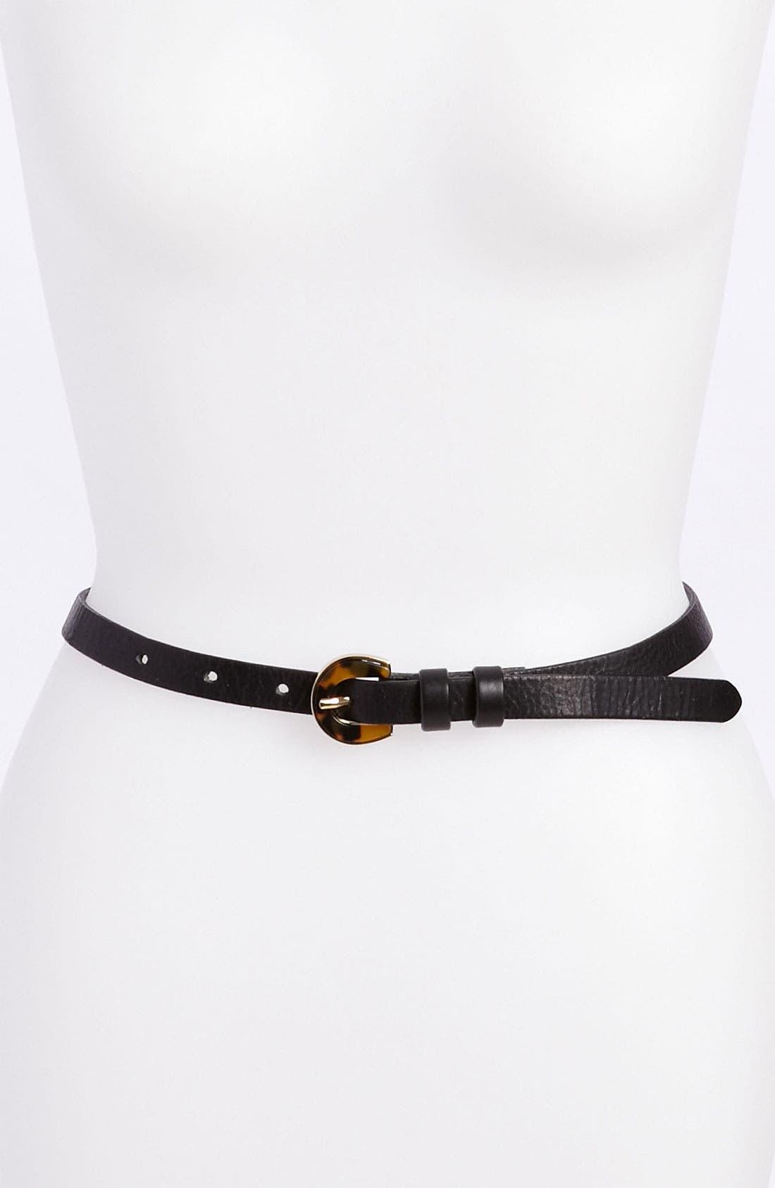 Alternate Image 1 Selected - Halogen® Skinny Belt
