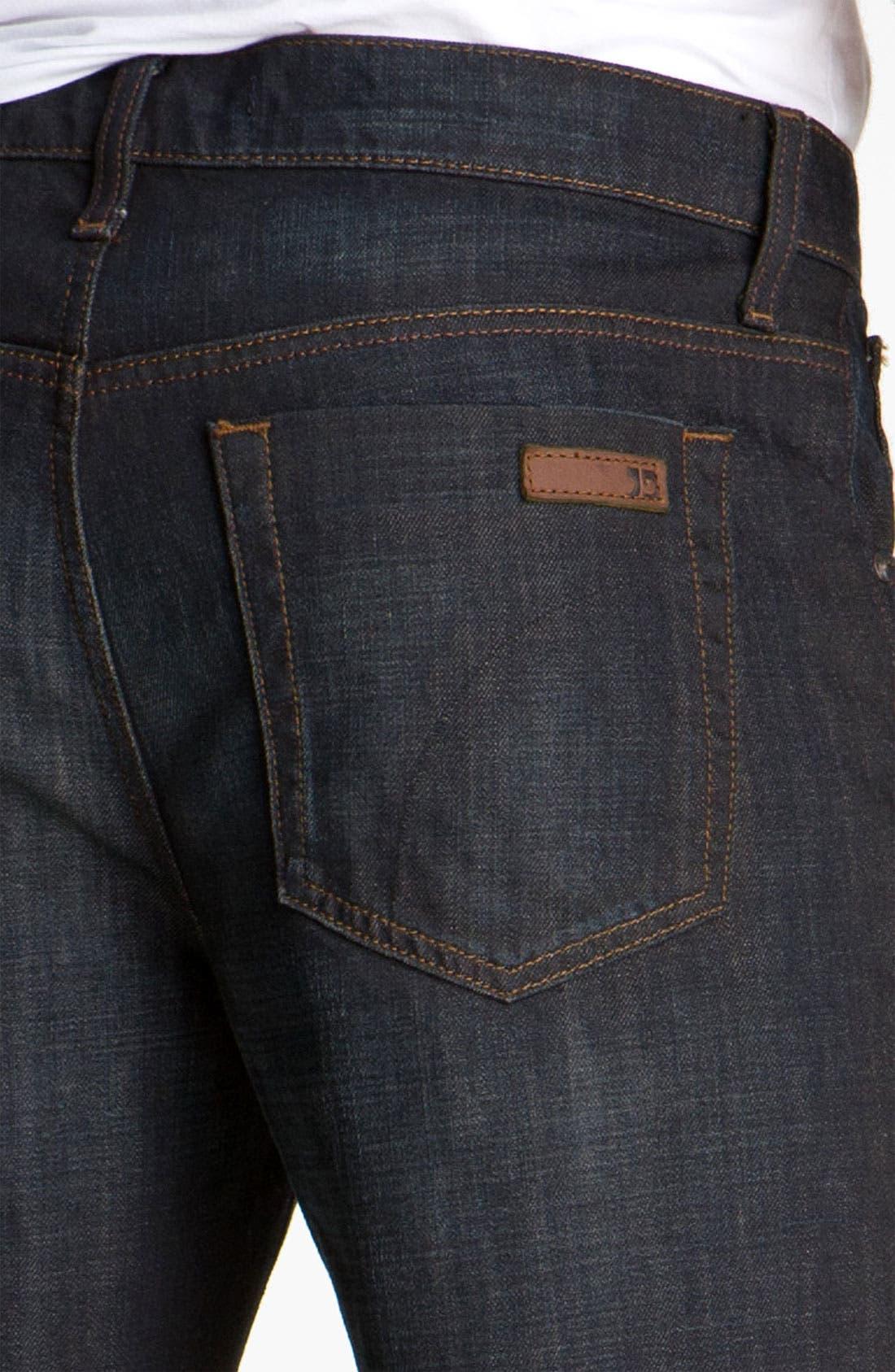 Alternate Image 4  - Joe's 'Rebel' Relaxed Straight Leg Jeans (Fields Dark Blue)