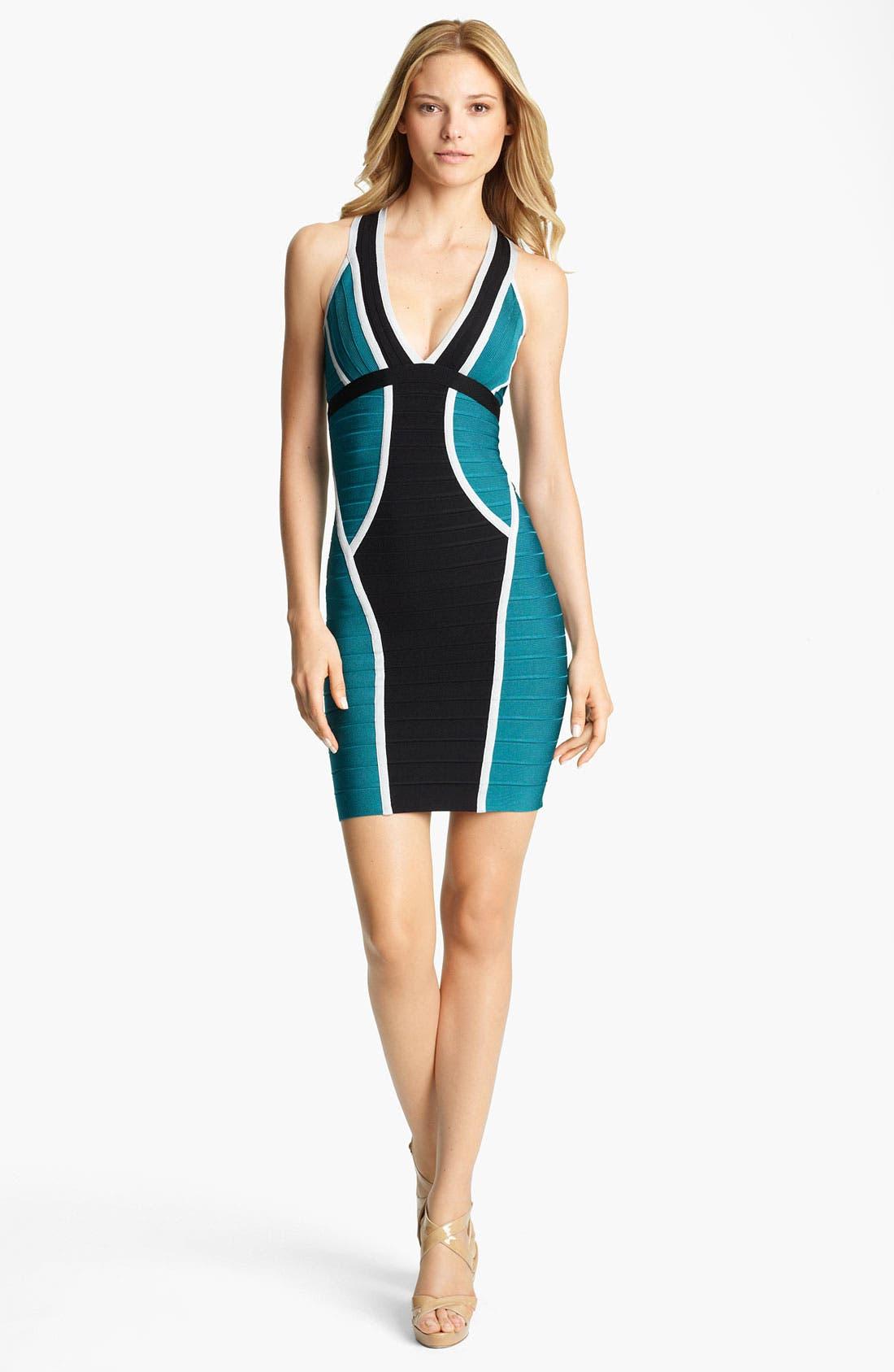 Alternate Image 1 Selected - Herve Leger Colorblock Bandage Dress