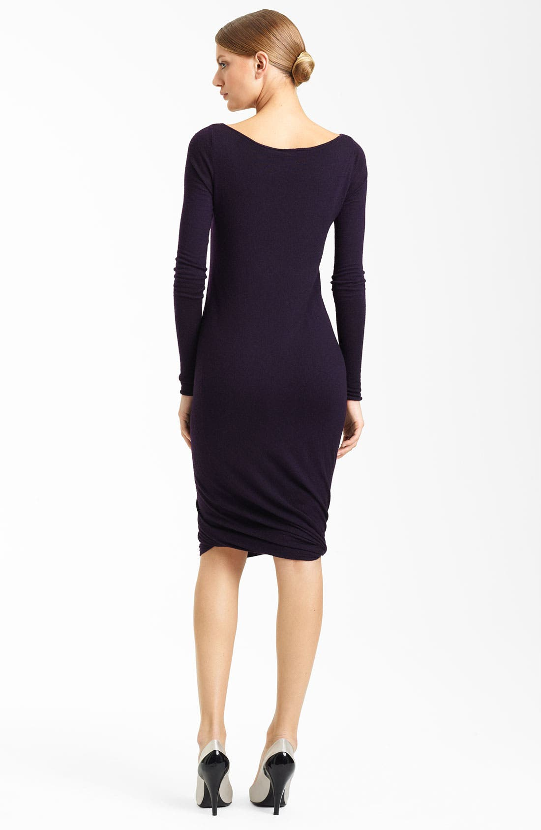 Alternate Image 2  - Donna Karan Collection Twisted Hem Cashmere Dress
