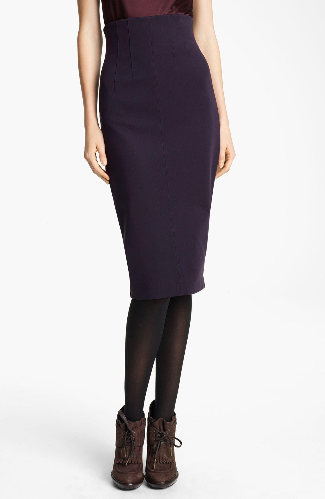 Alternate Image 1 Selected - Burberry London Jersey Skirt