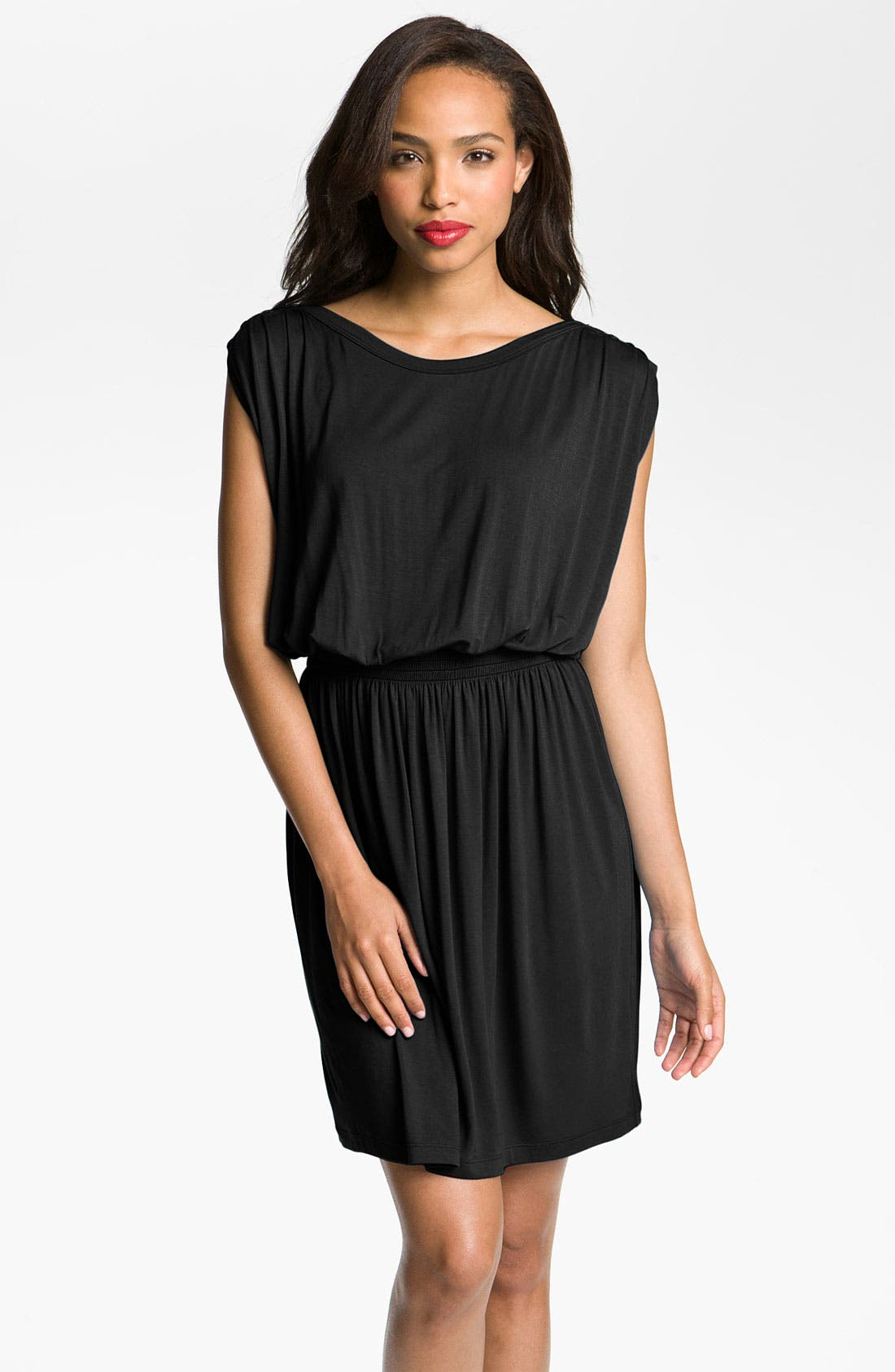 Alternate Image 1 Selected - Caslon® Button Shoulder Jersey Dress