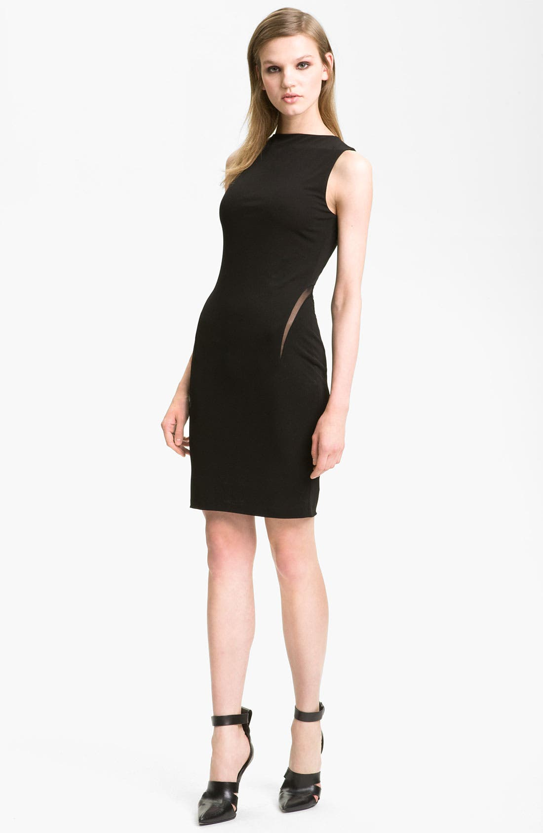 Alternate Image 1 Selected - T by Alexander Wang Mesh Inset Sheath Dress