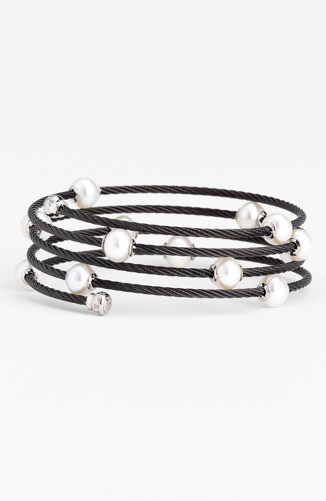 Alternate Image 1 Selected - ALOR® Pearl Cable Bracelet