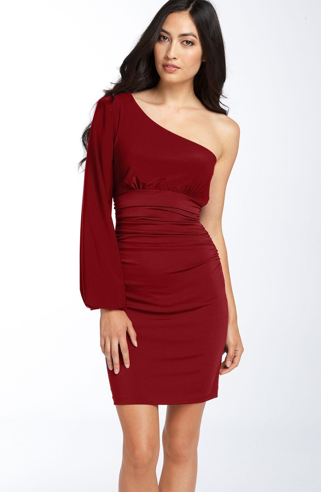 Alternate Image 1  - Maggy London One Shoulder Matte Jersey Dress