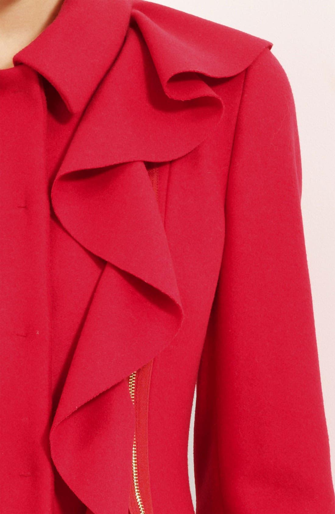 Alternate Image 3  - Moschino Cheap & Chic Detachable Ruffle Coat