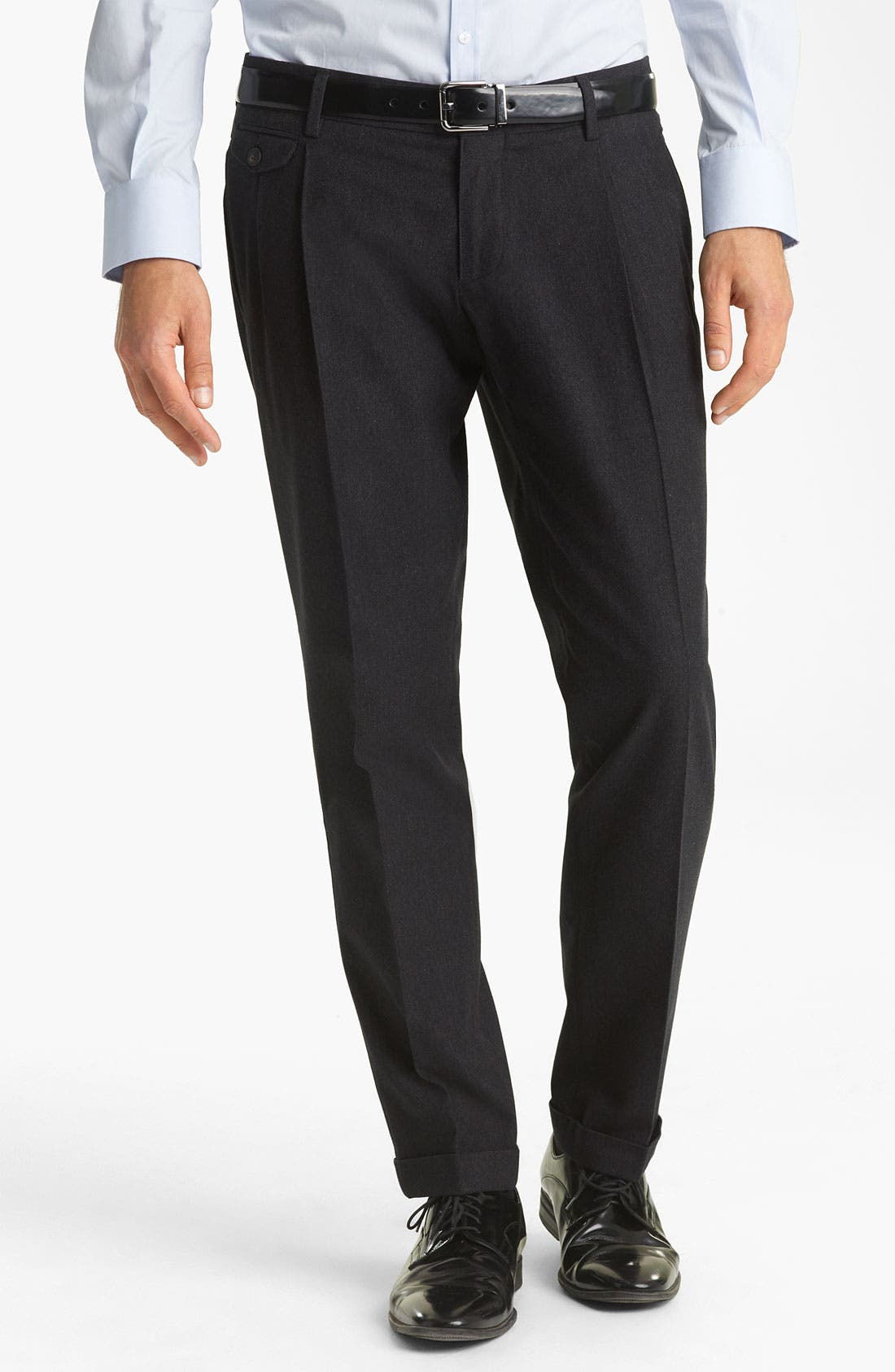 Main Image - Dolce&Gabbana Pleated Cotton Trousers