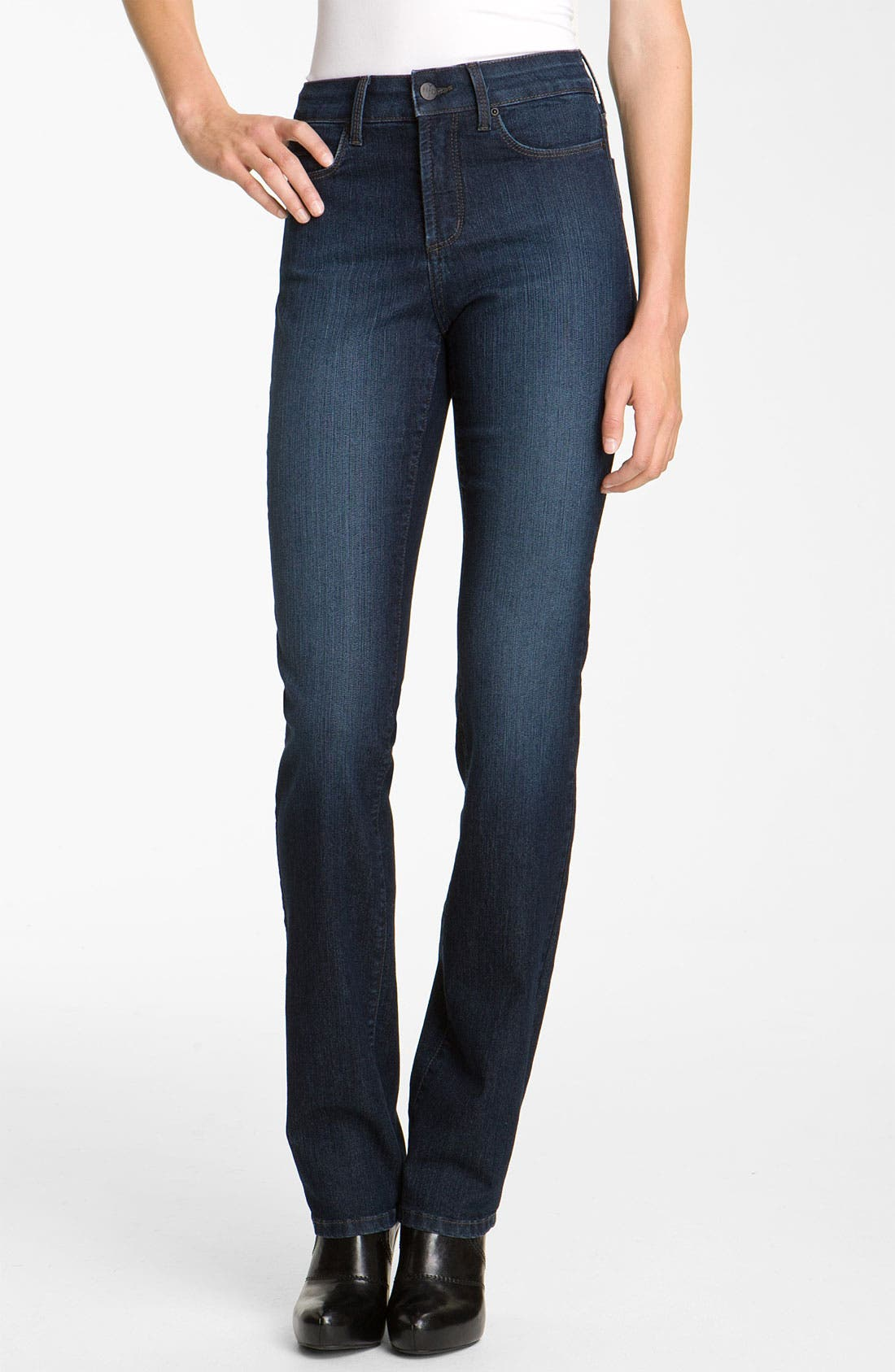 Alternate Image 1 Selected - NYDJ 'Marilyn' Straight Leg Stretch Jeans (Long)