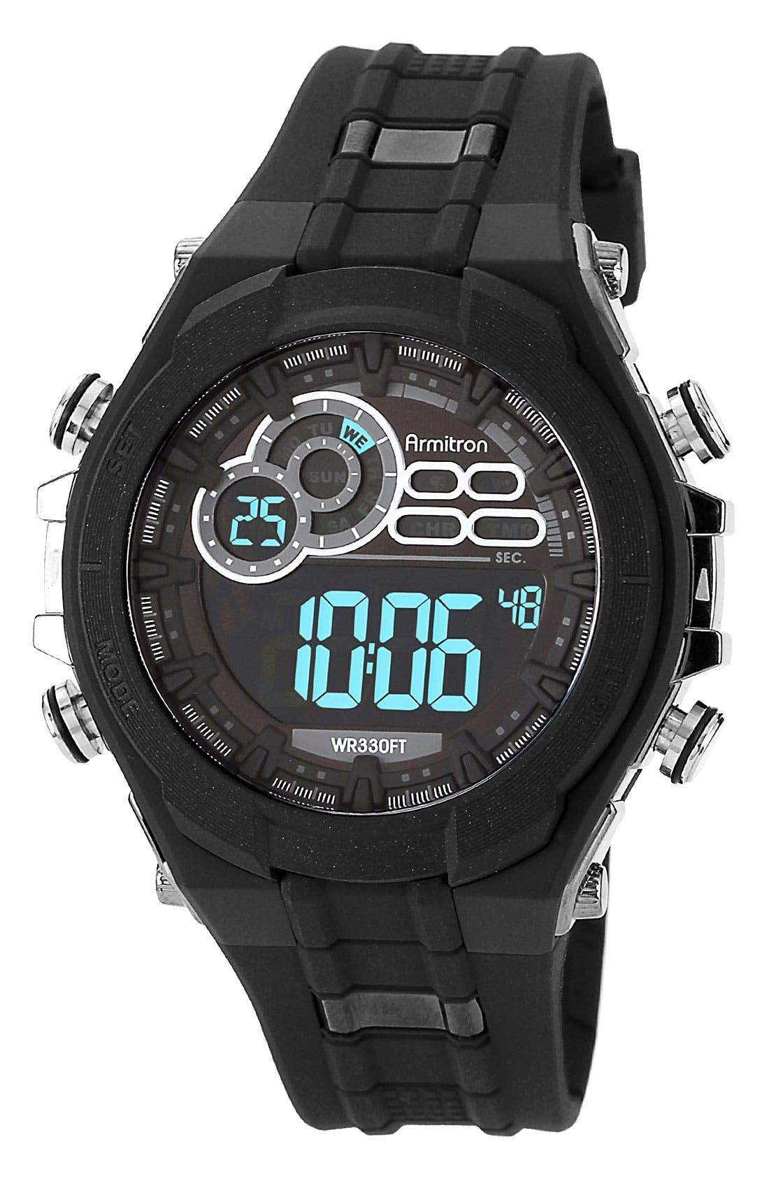 Alternate Image 1 Selected - Armitron Digital Resin Watch, 49mm