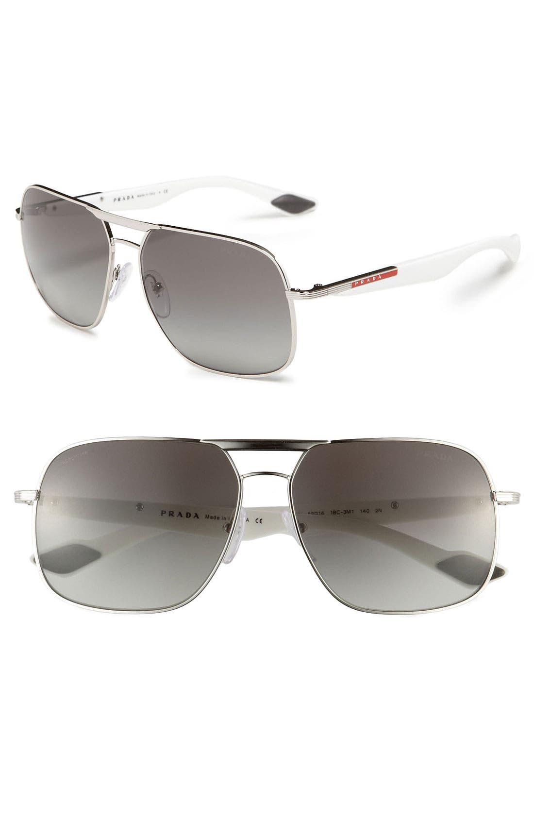 Main Image - Prada 61mm Navigator Sunglasses