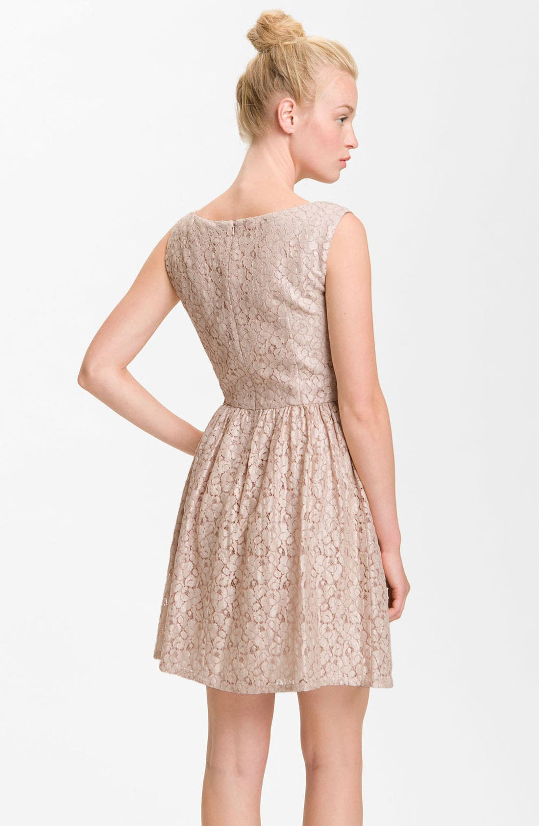 Alternate Image 2  - French Connection 'Fast Twinkle' Metallic Lace Dress