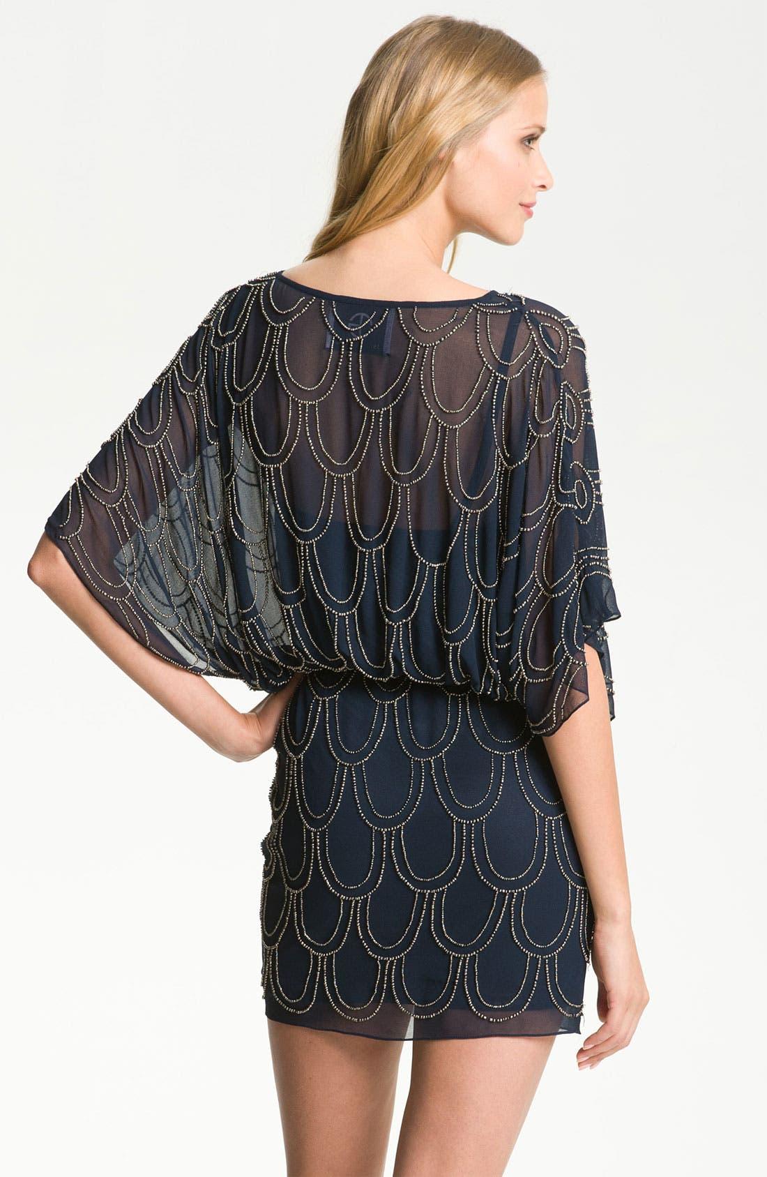 Alternate Image 2  - JS Collections Beaded Chiffon Blouson Dress
