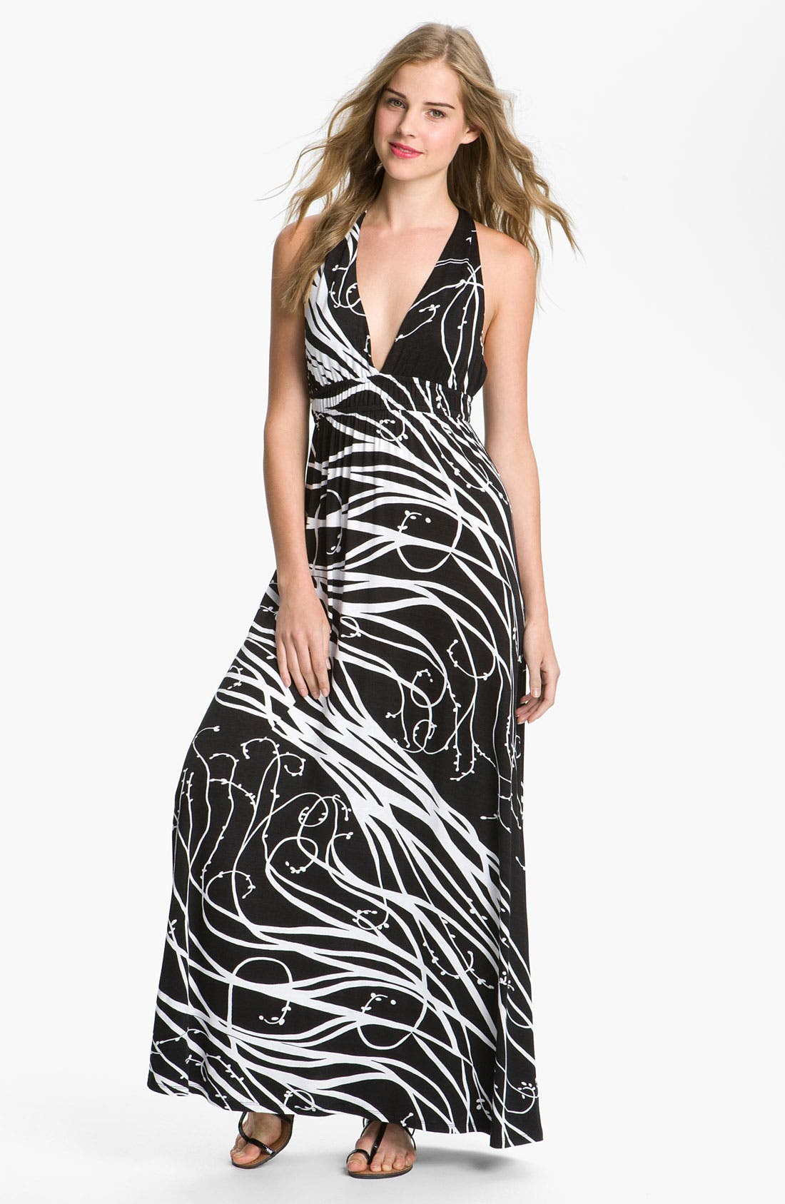 Alternate Image 1 Selected - Max & Mia Empire Waist Maxi Dress