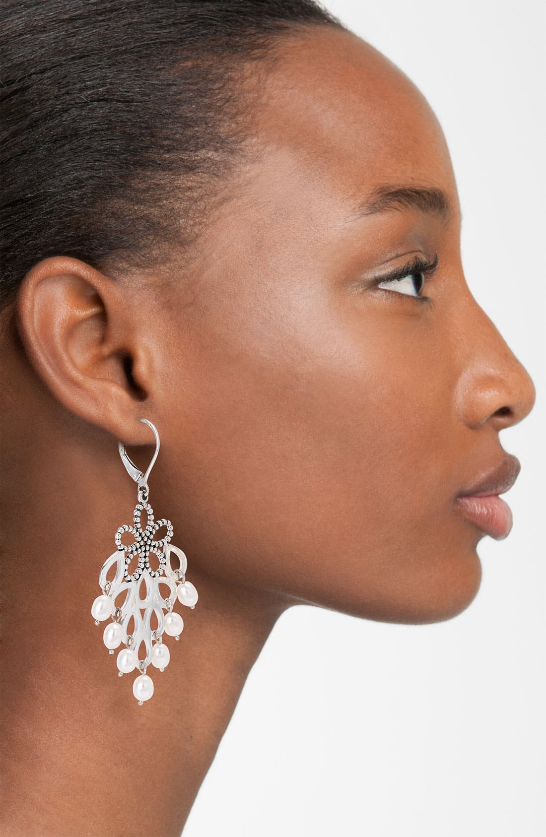 Alternate Image 2  - LAGOS 'Luna Pearl' Floral Cluster Earrings