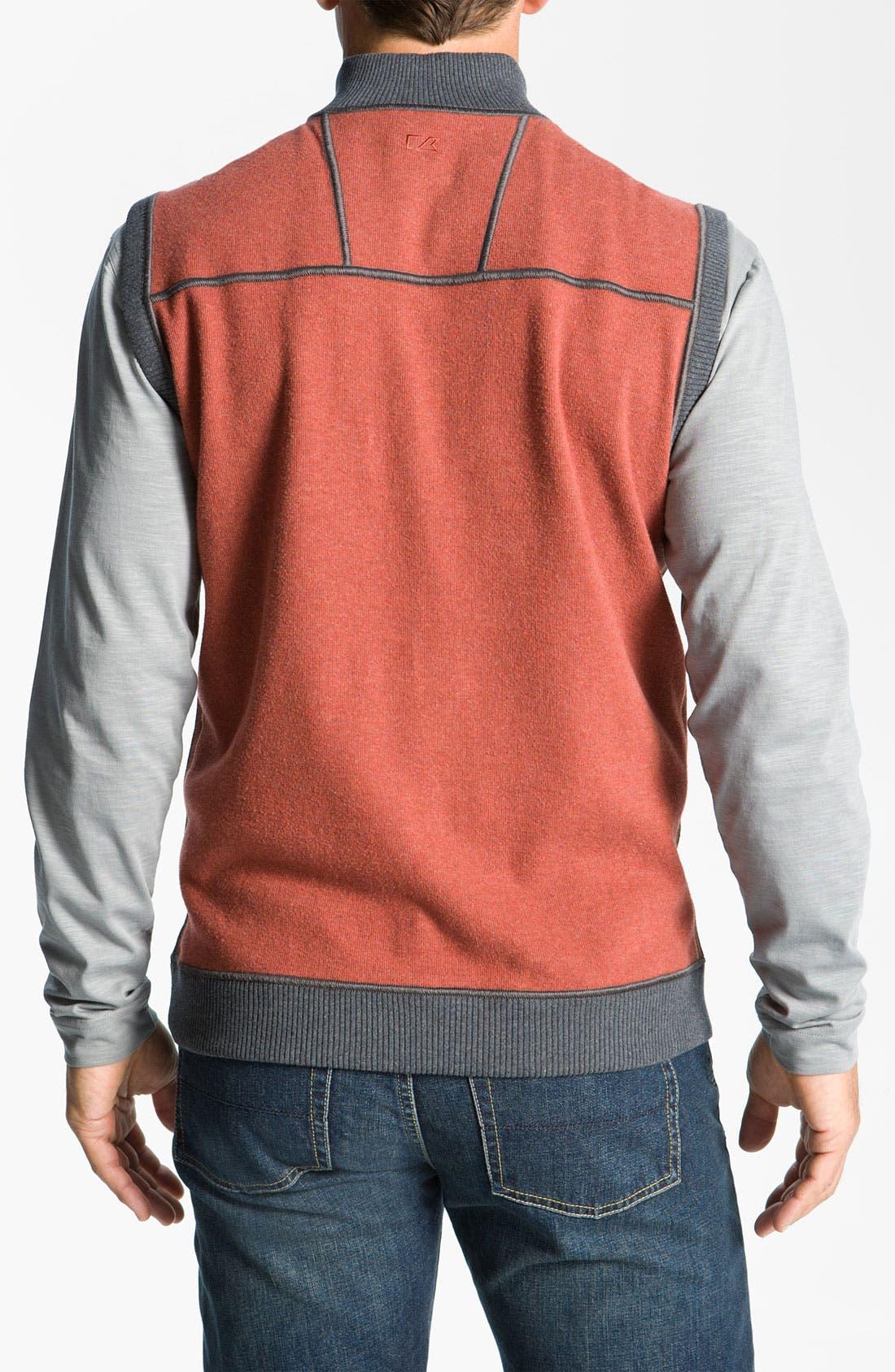 Alternate Image 2  - Cutter & Buck 'Essex' Reversible Half Zip Vest (Big & Tall)