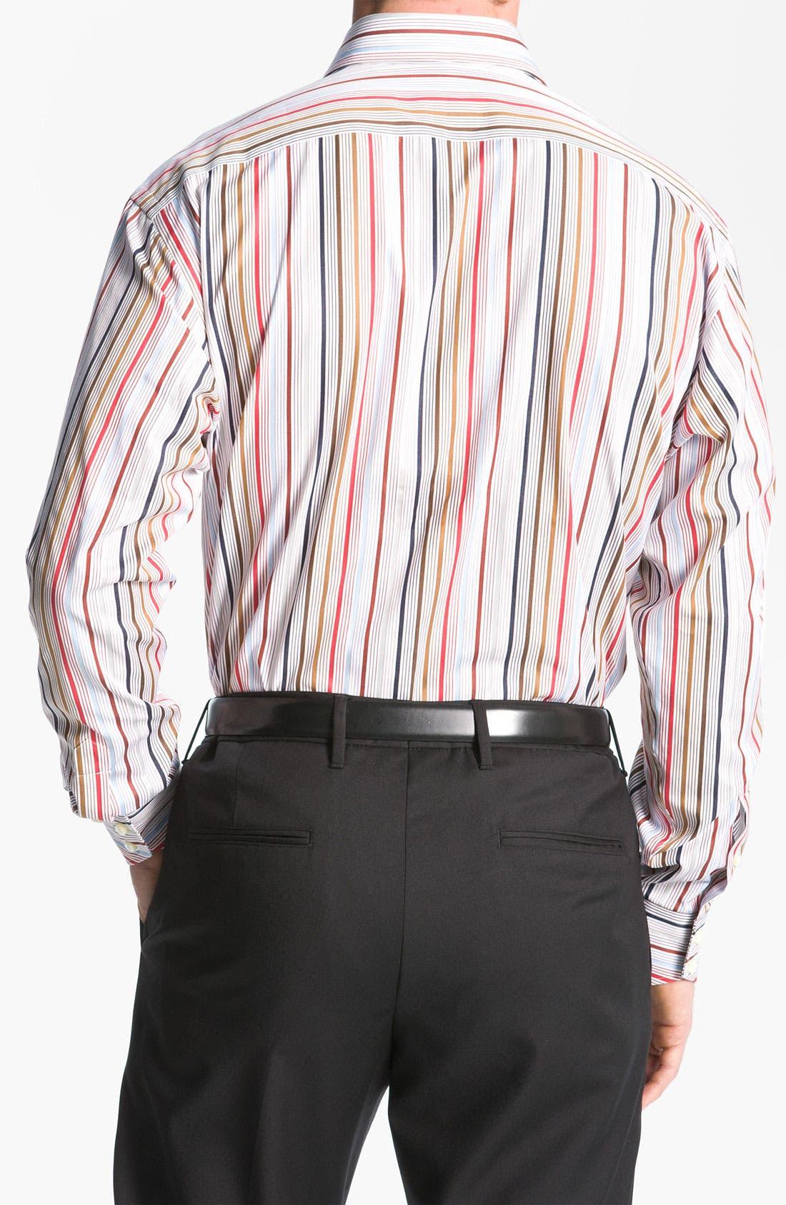 Alternate Image 2  - Thomas Dean Stripe Sport Shirt