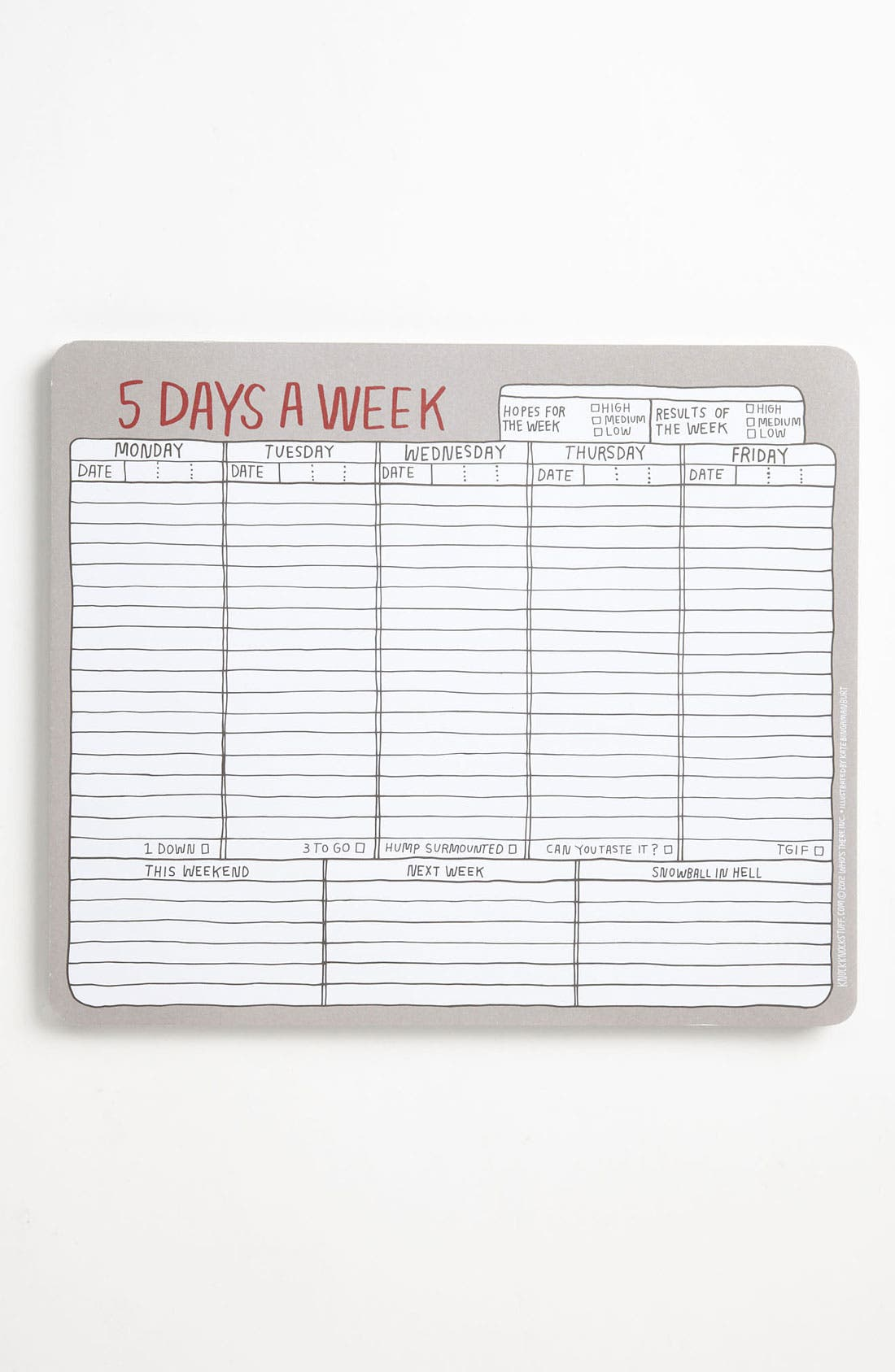 Main Image - Knock Knock 'Five Days a Week'  Paper Mouse Pad