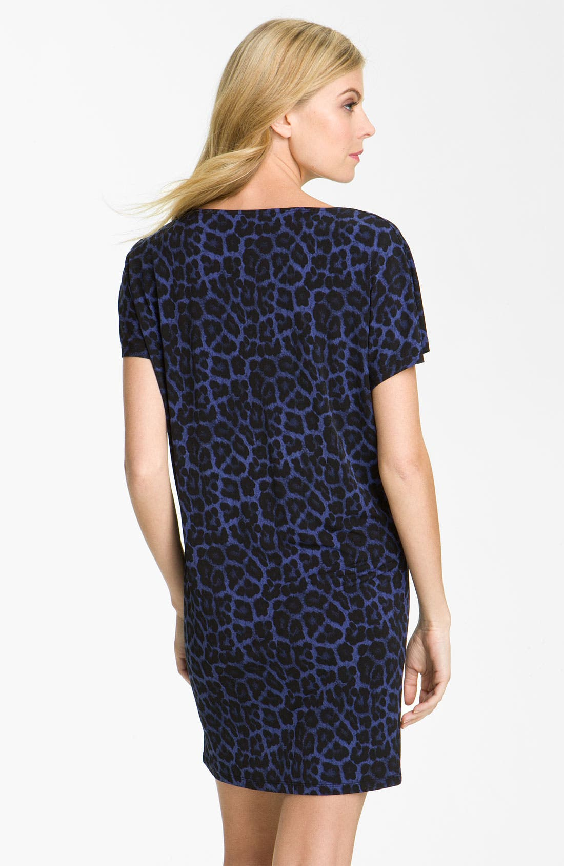 Alternate Image 2  - MICHAEL Michael Kors Drape Neck Leopard Print Dress