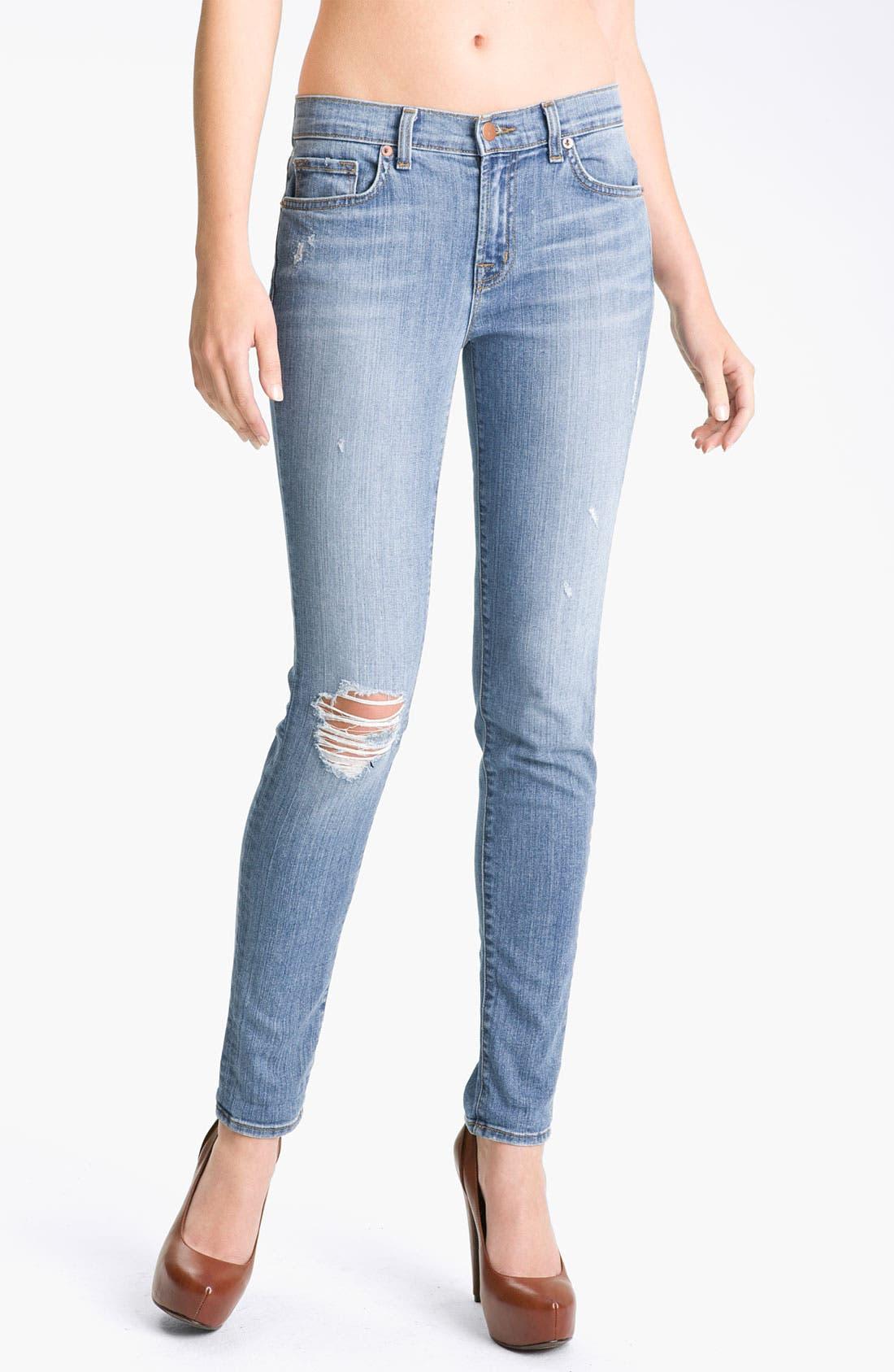 Alternate Image 1 Selected - J Brand Skinny Stretch Jeans (Tulum)
