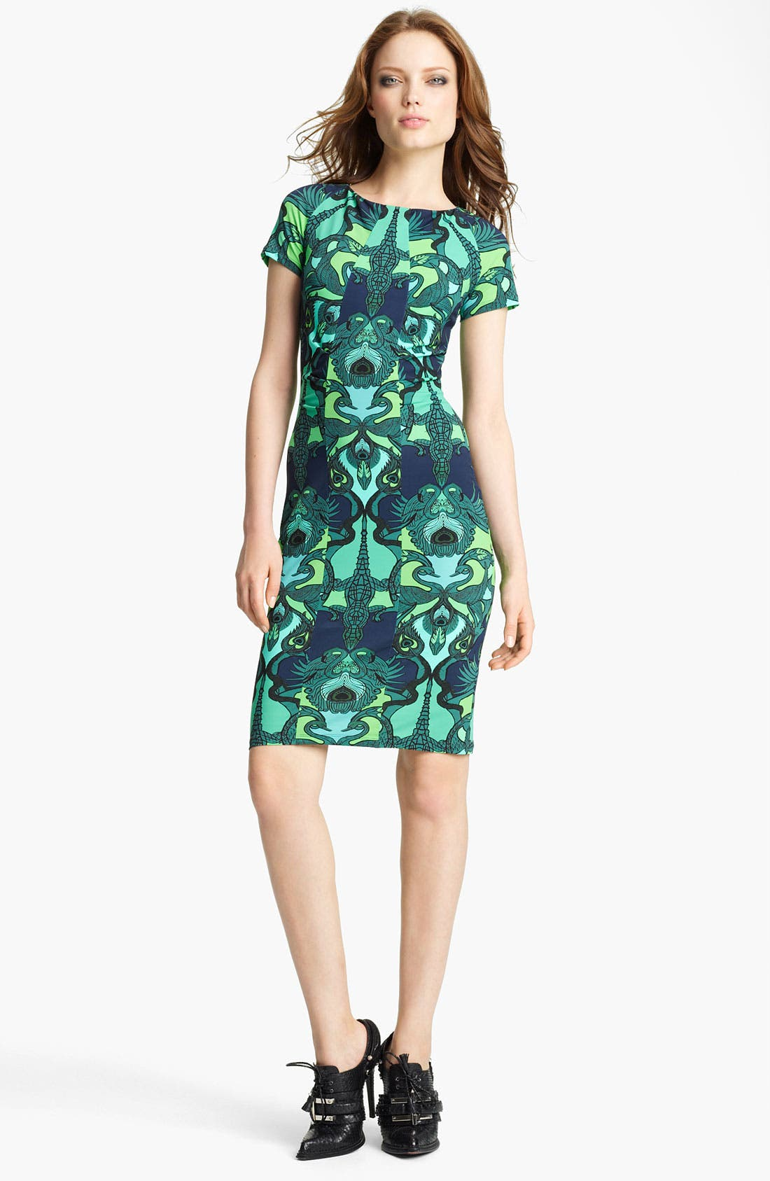 Alternate Image 1 Selected - Roberto Cavalli Alligator Print Jersey Dress
