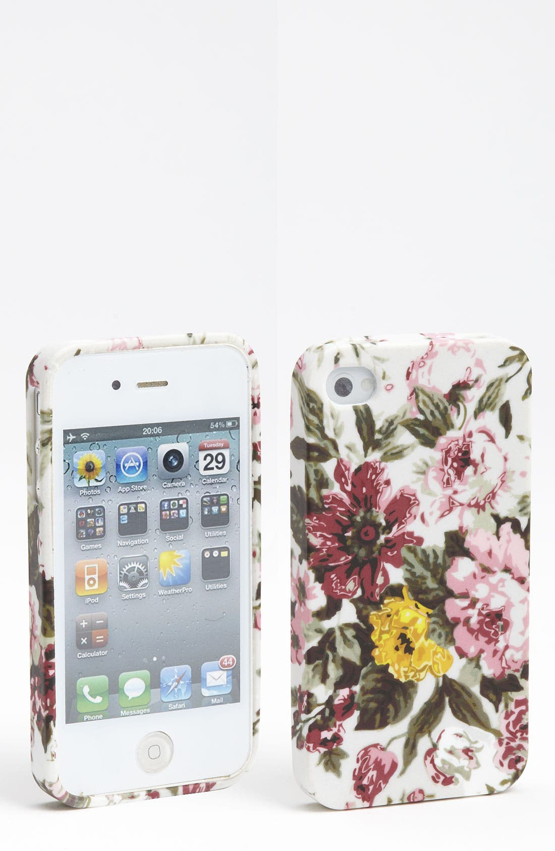 Alternate Image 1 Selected - Design Lab Floral Print iPhone 4 & 4S Case