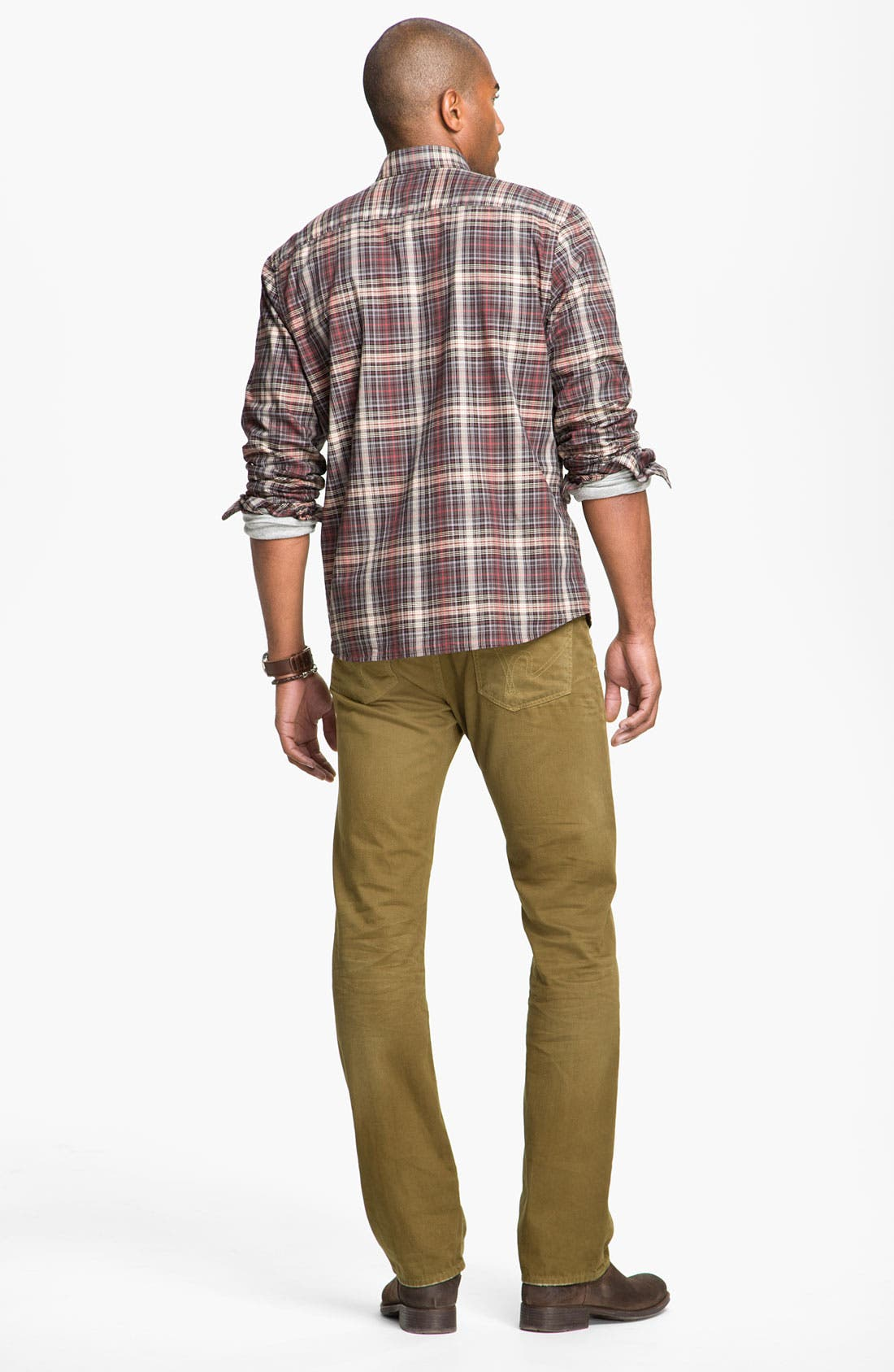Alternate Image 5  - Cutter & Buck 'McCrea' Plaid Woven Shirt (Big & Tall)