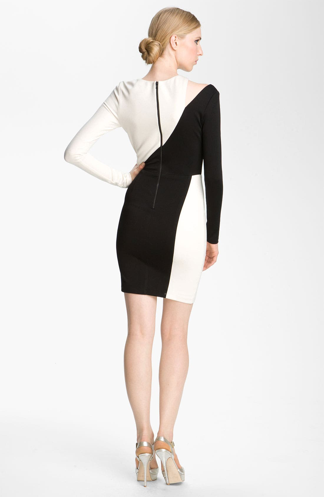 Alternate Image 2  - Alice + Olivia 'Josefina' Cutout Shoulder Sheath Dress
